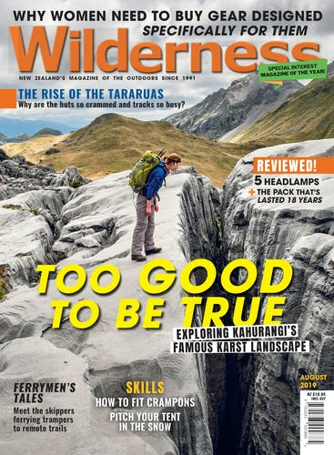 Image of the August 2019 Wilderness Magazine Cover