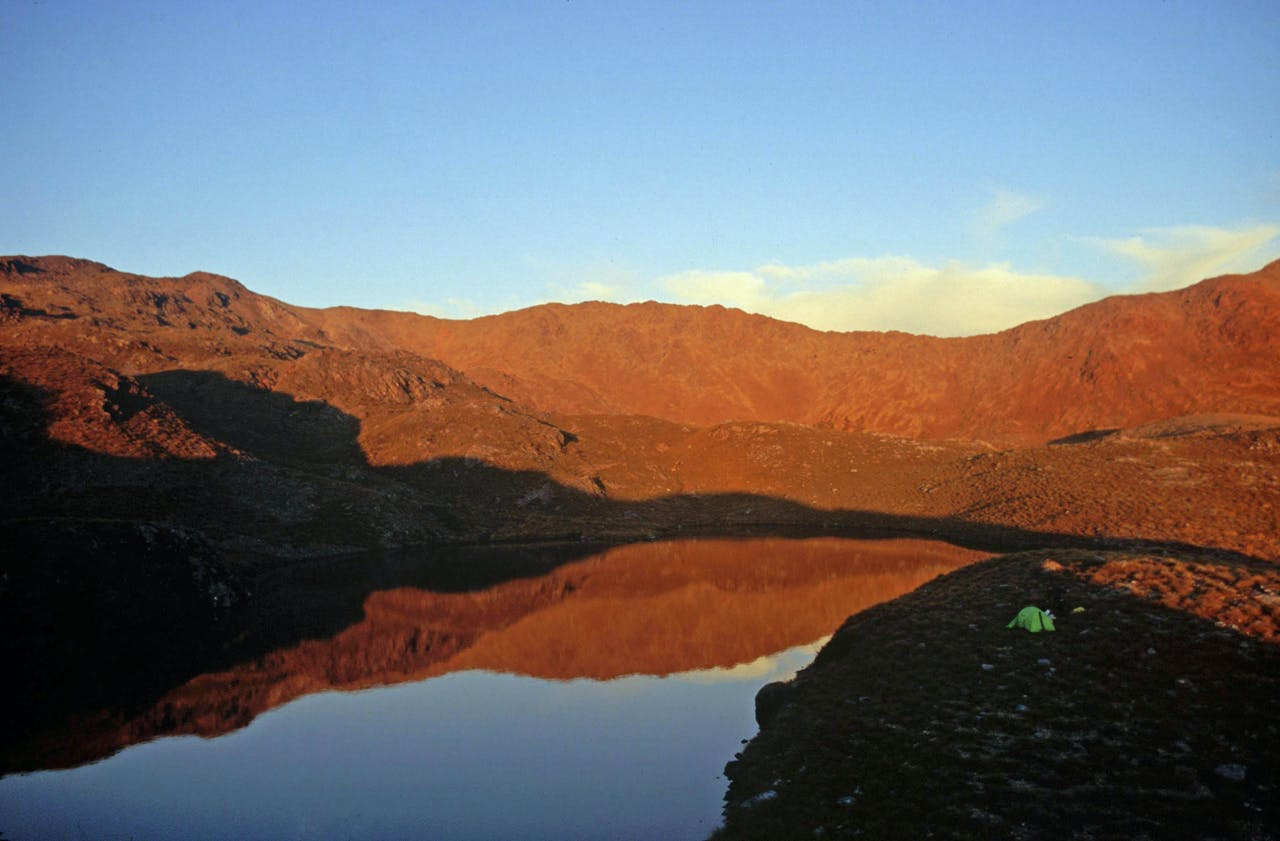 Camping beneath the Red Hills Range. Photo: Richard Davies