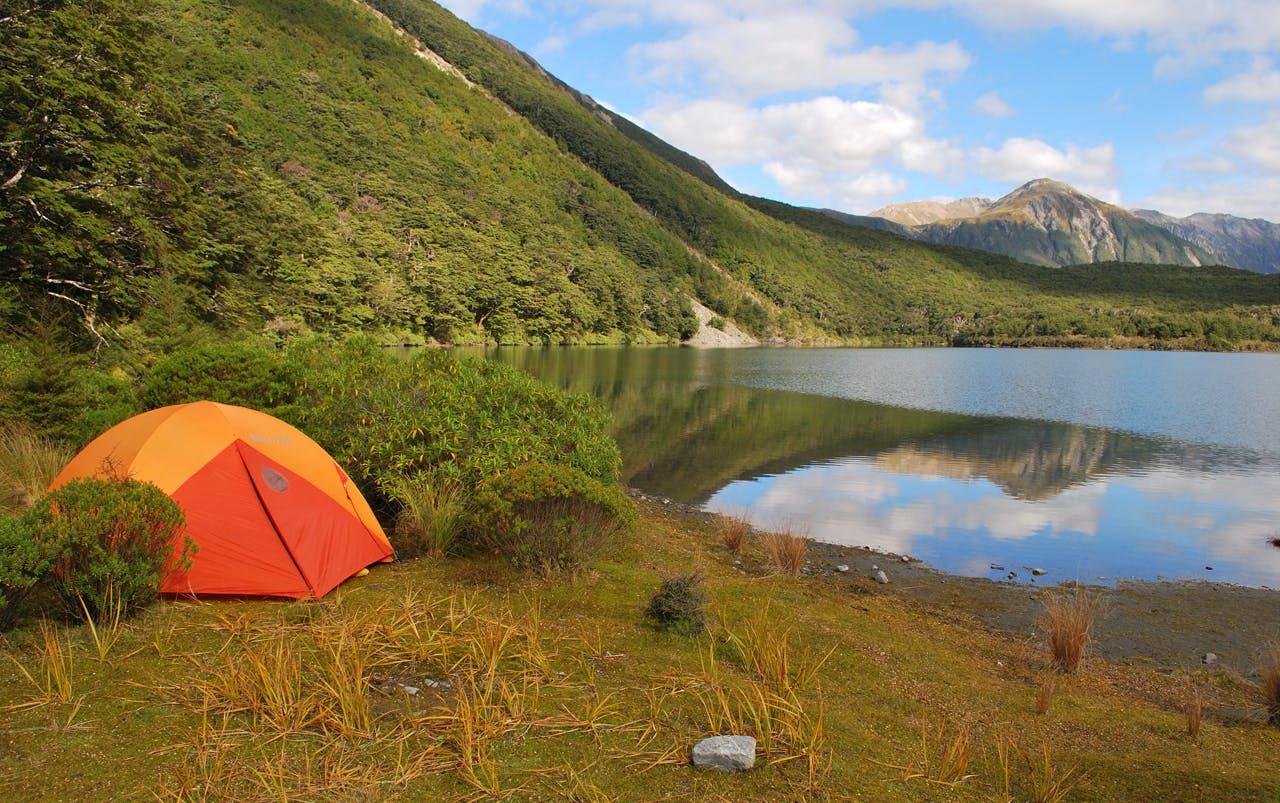 Lake Minchin is a perfect, quiet, place to camp. Photo: Matt Gwynne