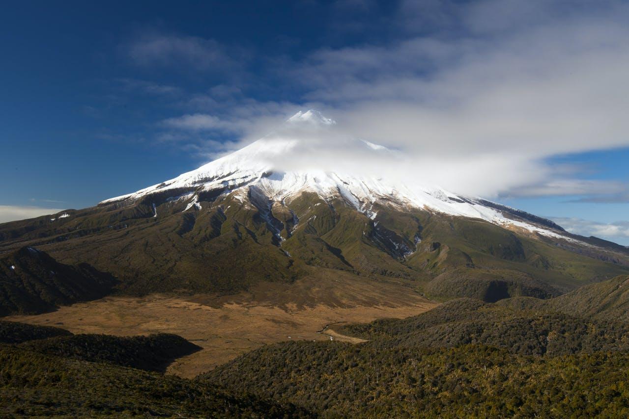 The sub alpine slopes on the western side of Mt Egmont/Taranaki are 'magic'. Photo: Mark Watson