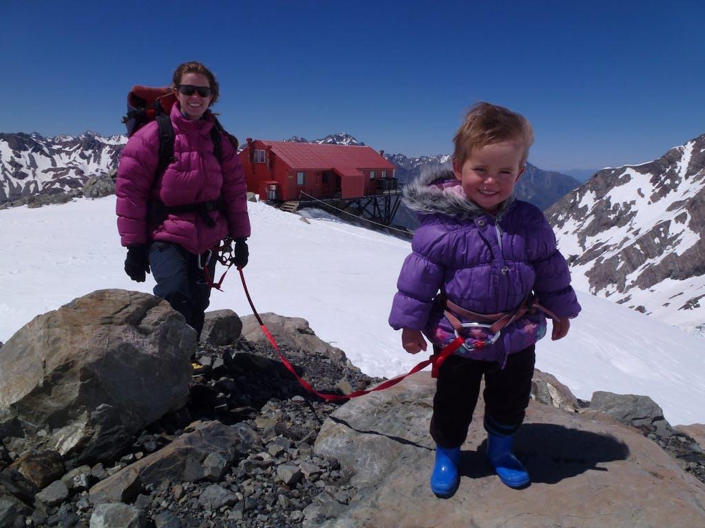 Siula Gough climbs her first 'peak' Photo: Geoff Wayatt