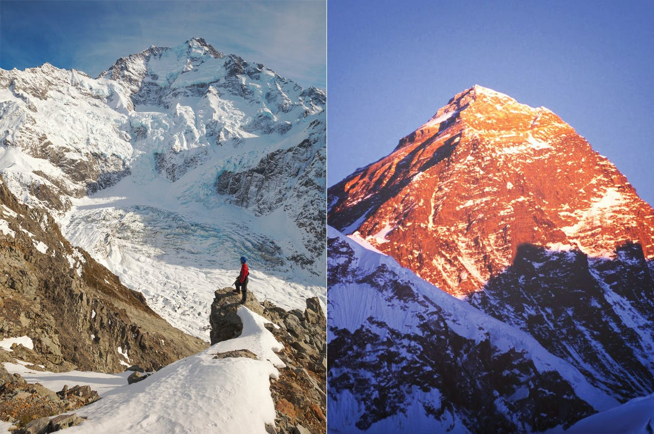 Aoraki/Mt Cook, left, has been a proving ground for Kiwis wanting to ascend Everest. Photo: Mark Watson (Aoraki/Mt Cook)