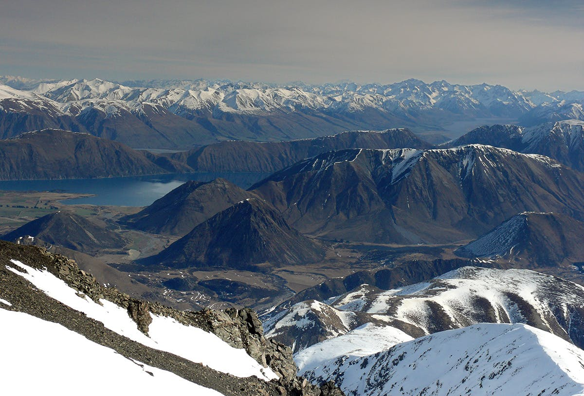 Lake Coleridge and the Rakaia catchment from Mt Enys. Photo: Geoff Spearpoint