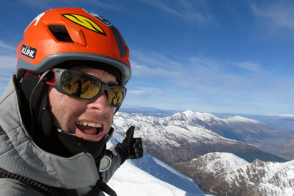 Guy McKinnon on the summit of Popes Nose. Photo: Supplied