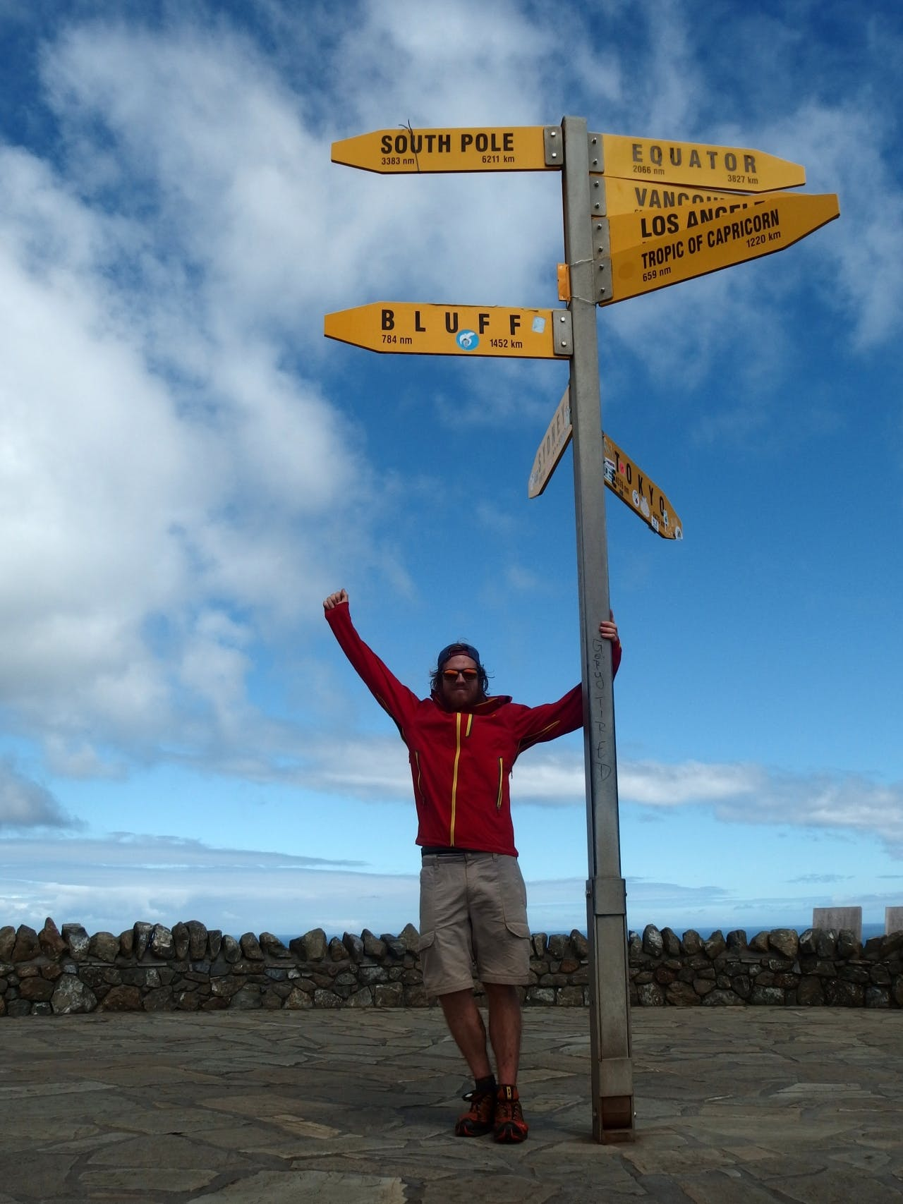 Adam Chambers completes his south to north TA hike, arriving at Cape Reinga.