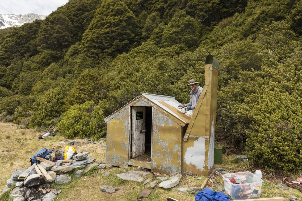 Helping with the upkeep of your favourite hut is a good way to 'give back'. Photo: Rob Brown