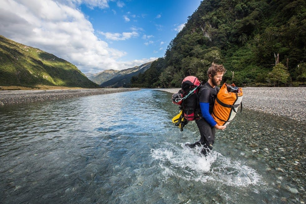 The expedition explored canyons in the Albert Burn near Wanaka. Photo: Neil Silverwood