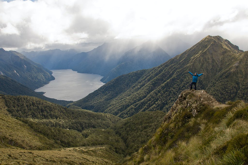 The South Fiord of Lake Te Anau seen from the Kepler Track. Photo: Evan Foster