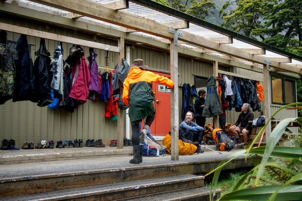 A nearly full Mintaro Hut on the Milford Track – facilities like this are reaching capacity CREDIT: Kay Bayley