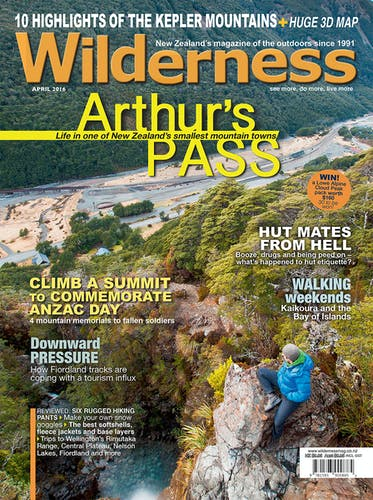 Image of the April 2016 Wilderness Magazine Cover