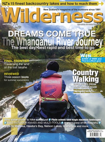 Image of the December 2015 Wilderness Magazine Cover