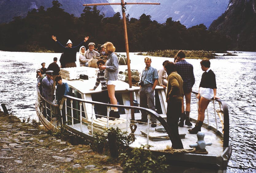Success! The freedom walkers board the boat at Sandfly Point. Photo: Supplied