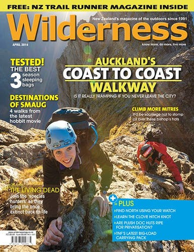 Image of the April 2014 Wilderness Magazine Cover