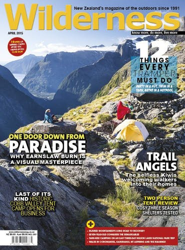 Image of the April 2015 Wilderness Magazine Cover