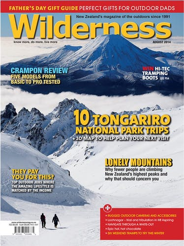 Image of the August 2014 Wilderness Magazine Cover