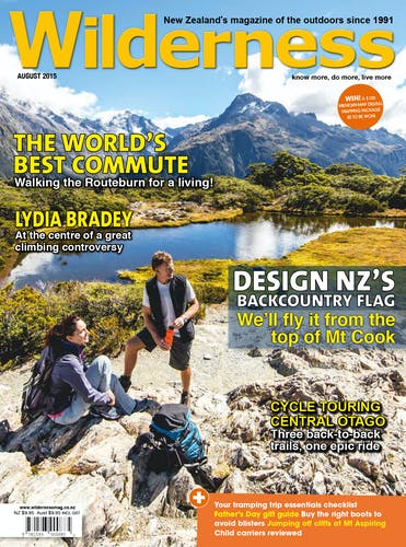 Image of the August 2015 Wilderness Magazine Cover
