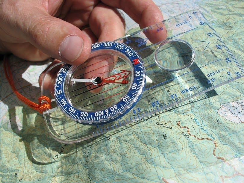 Compass skills are essential to tackling anything tougher than a great walk. Photo: Shaun Barnett