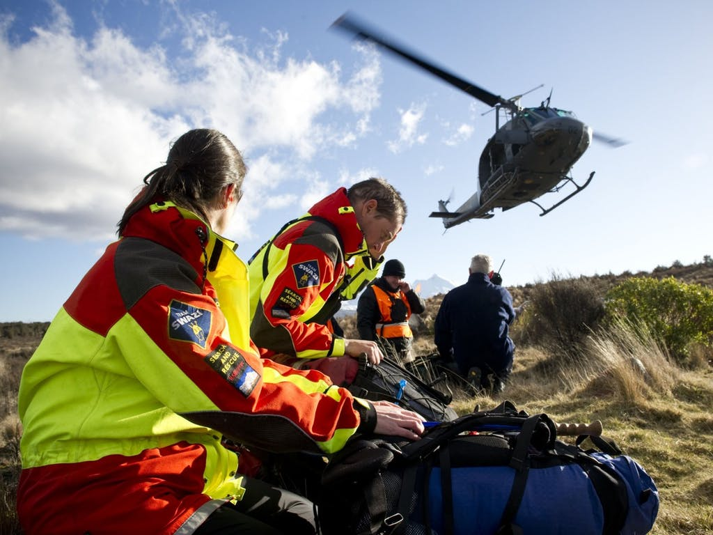 If it's safe to do so, move to an open space so rescuers can easily spot you. Photo: NZDF / Creative Commons