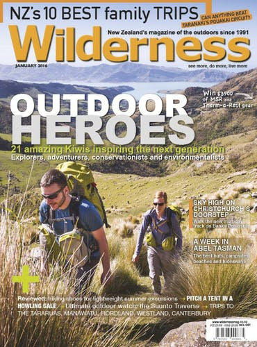 Image of the January 2016 Wilderness Magazine Cover