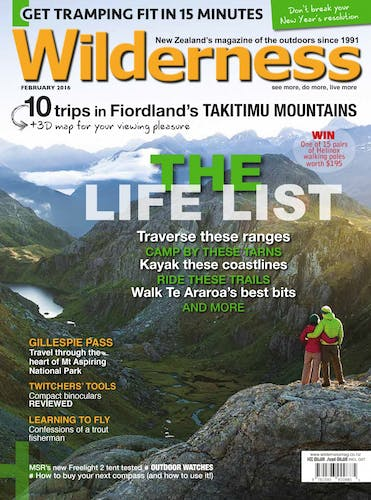 Image of the February 2016 Wilderness Magazine Cover