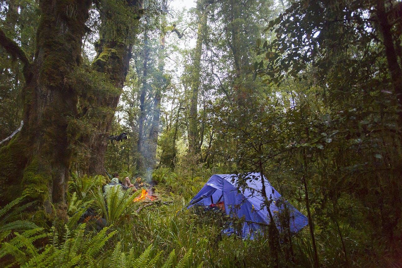 Bush camp on the first night. Photo: Jason Blair