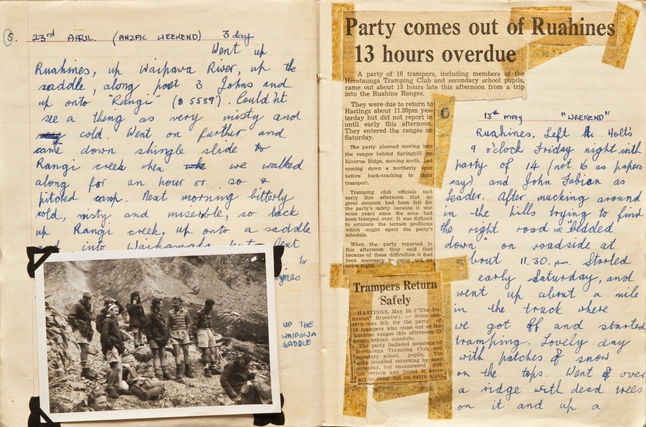 Ken Tustin tramping diary 1960-61, page 4