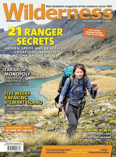 Image of the December 2014 Wilderness Magazine Cover