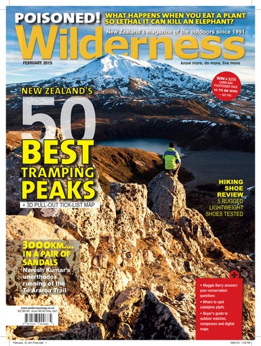 Image of the February 2015 Wilderness Magazine Cover