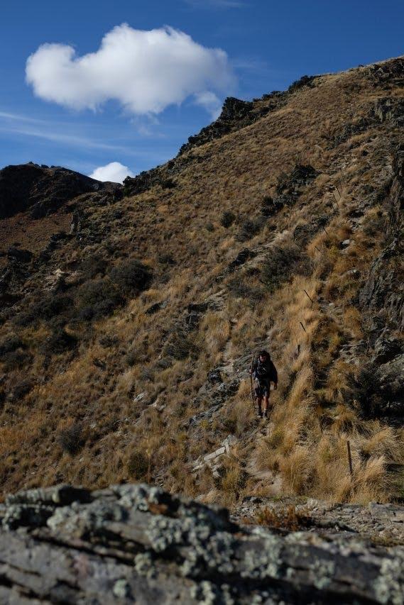 Final Descent, 950m, to Timaru River Road.