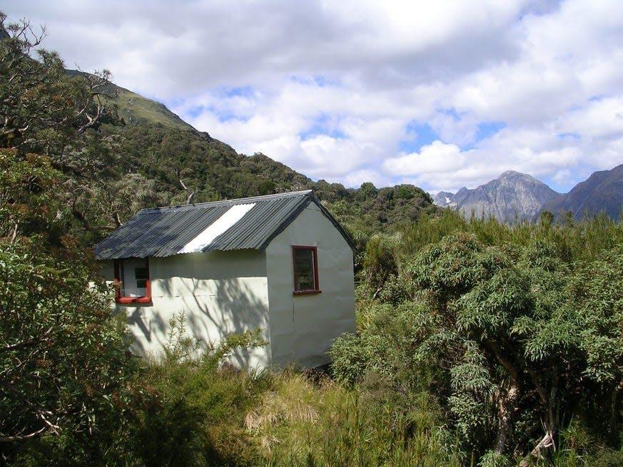 Frisco Hut - Greg Ross' life saving home for six days. Photo: Andrew Buglass