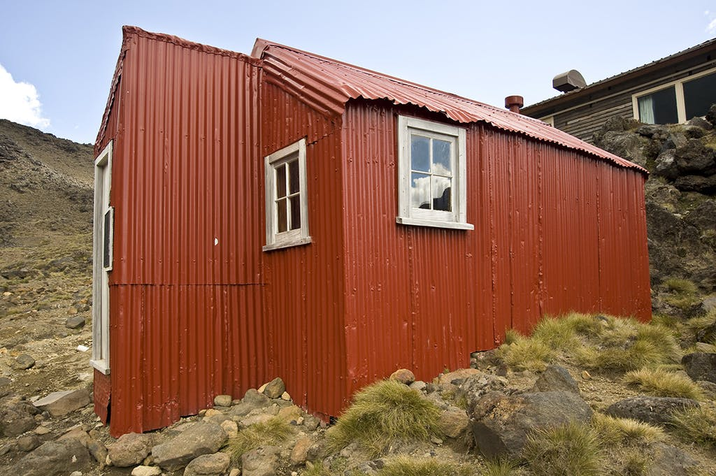 Historic Glacier Hut was built in 1923. Photo: Shaun Barnett/Black Robin Photography