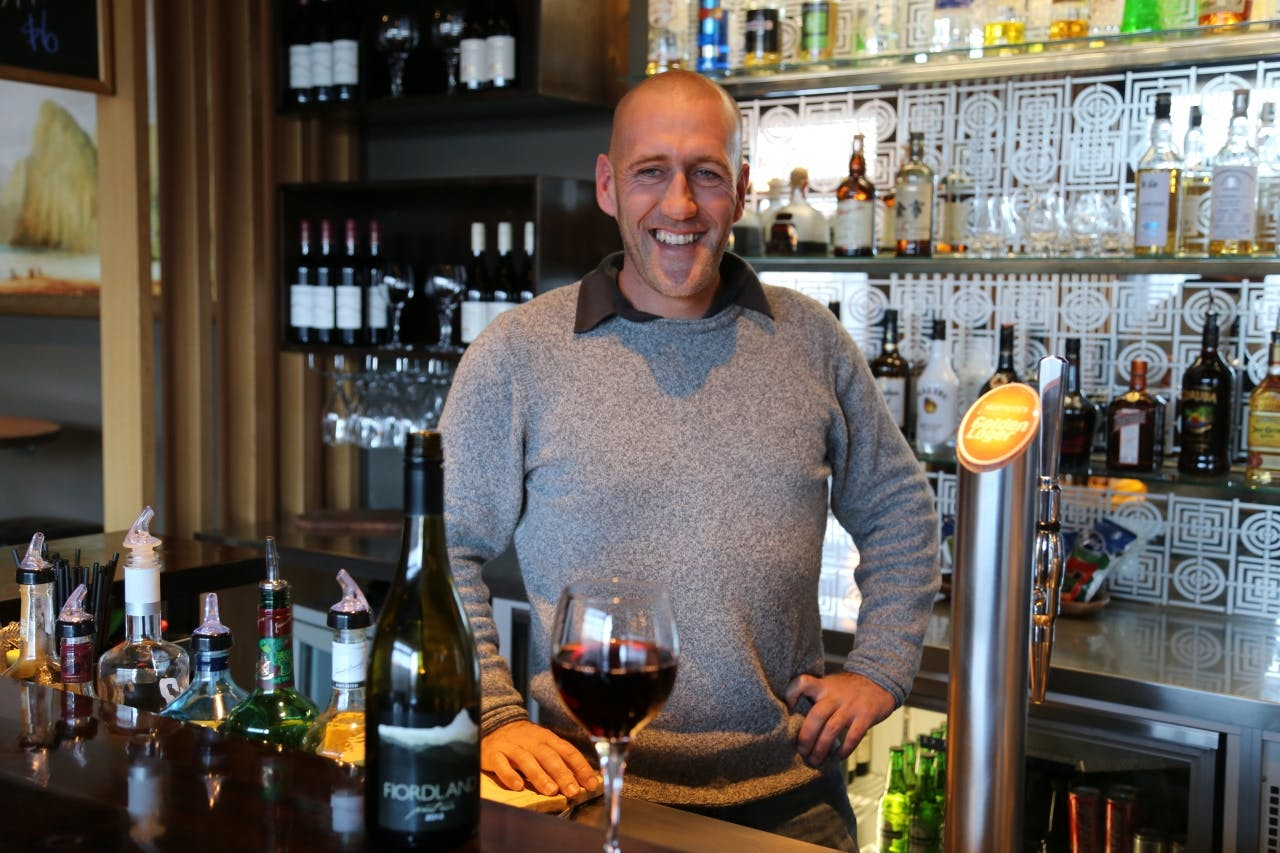 Bar Manager Bard Crawford rates the tramping in Te Anau as second to none.