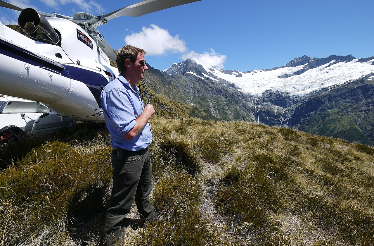 Stunning scenery in Mt Aspiring National Park is all in a day's work for helicopter pilot James Ford. Photo: Supplied