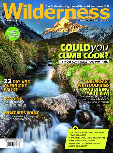 Image of the January 2015 Wilderness Magazine Cover