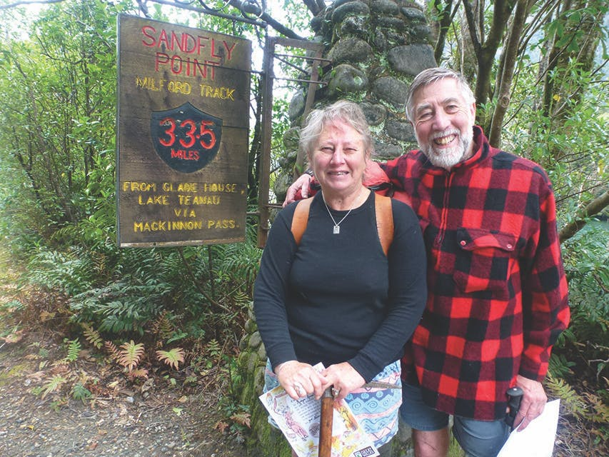 John and Robyn Armstrong on the 125th anniversary walk. Photo: Supplied