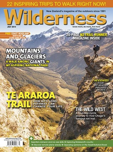 Image of the July 2014 Wilderness Magazine Cover