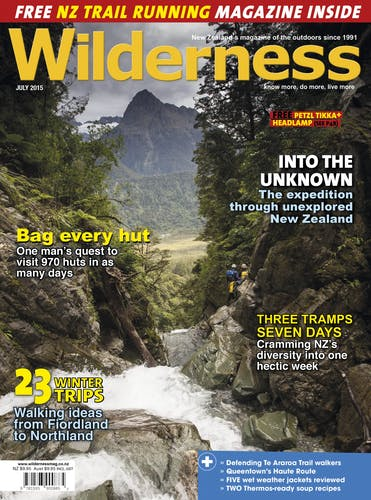Image of the July 2015 Wilderness Magazine Cover