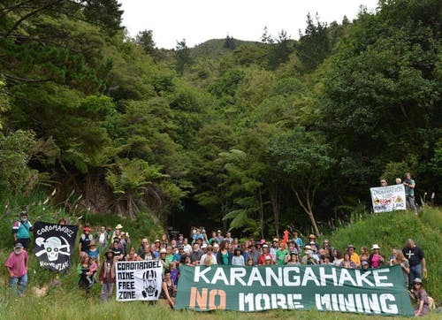 Locals campaign against mining in the Karangahake Gorge. Photo: Supplied