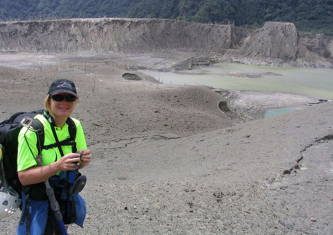 Karen Britten's job is to give advance warning for major volcanic eruptions. Photo: Supplied