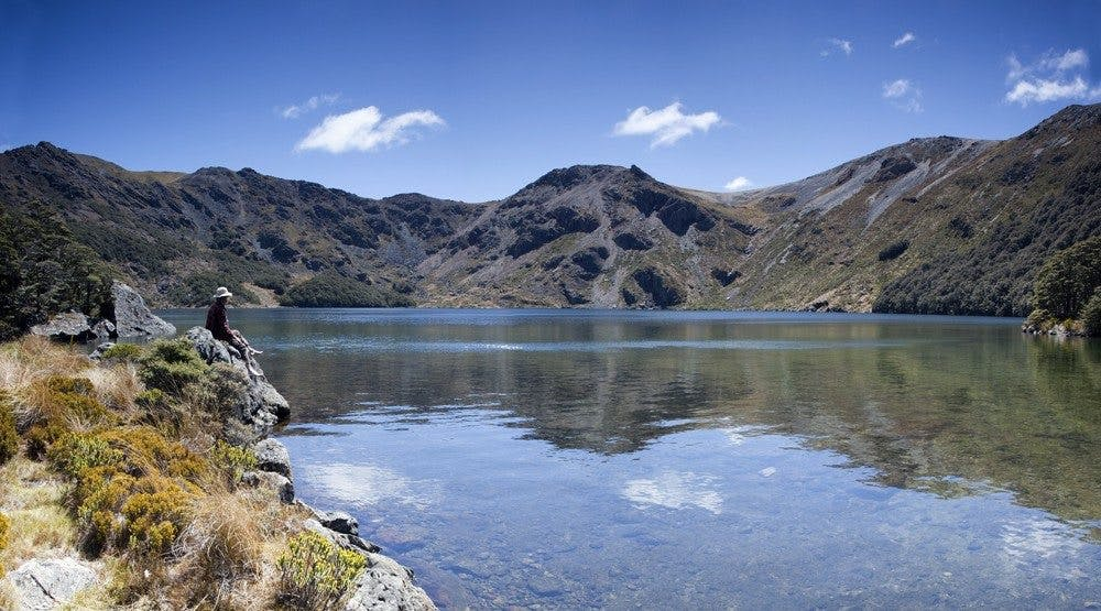 Lake Lockett is in an alpine cirque. Photo: Ray Salisbury