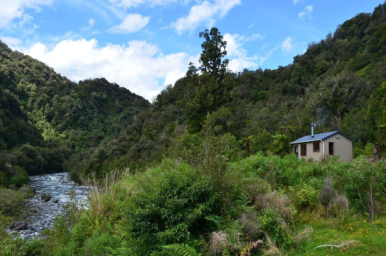 Lower Arahura Hut. Photo: Ricky French