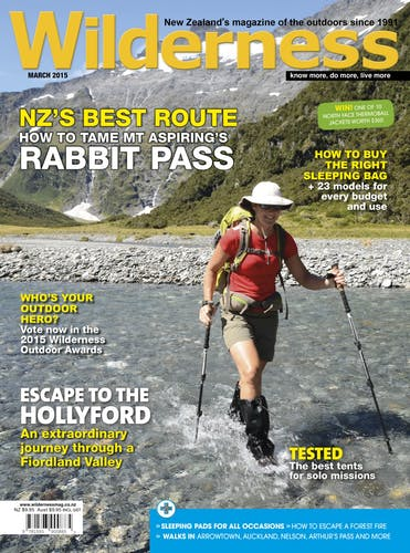Image of the March 2015 Wilderness Magazine Cover