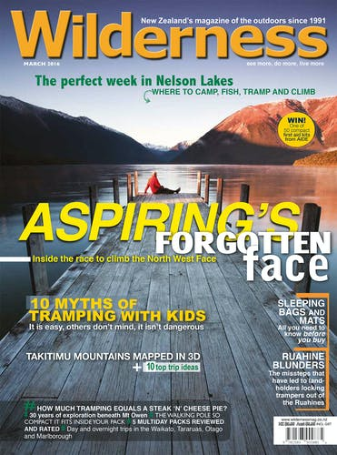 Image of the March 2016 Wilderness Magazine Cover