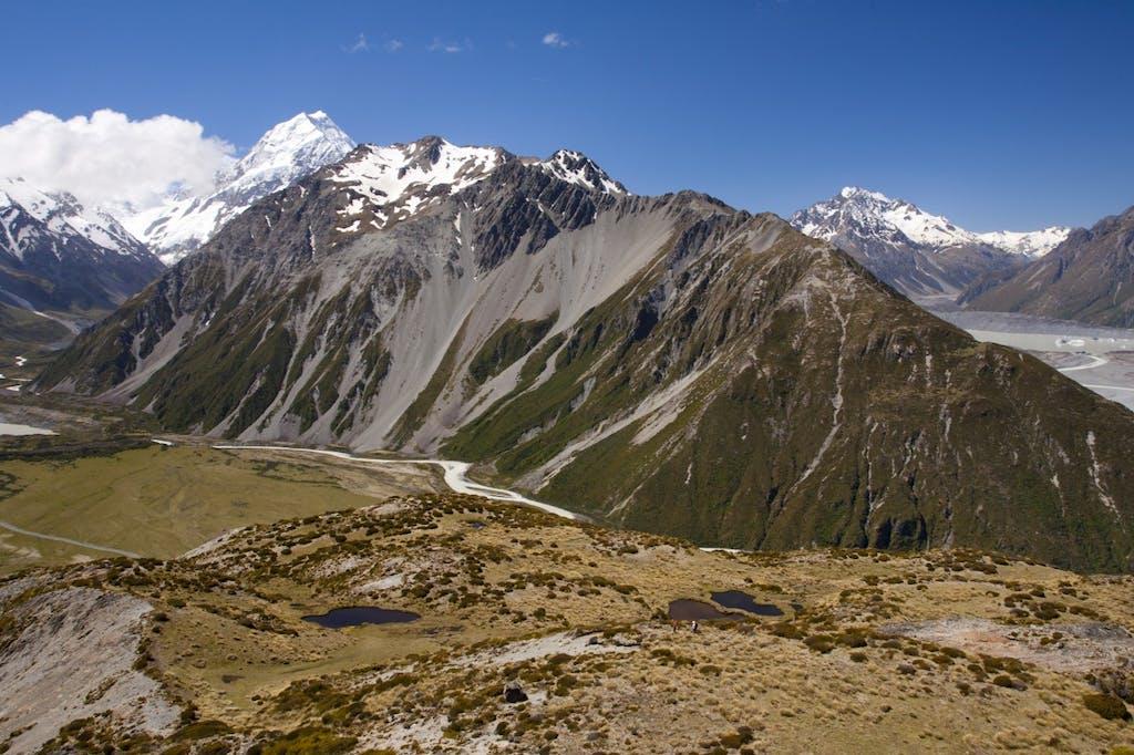 Tremendous view – McNulty's Tarns and Aoraki/Mt Cook. Photo: Nick Groves