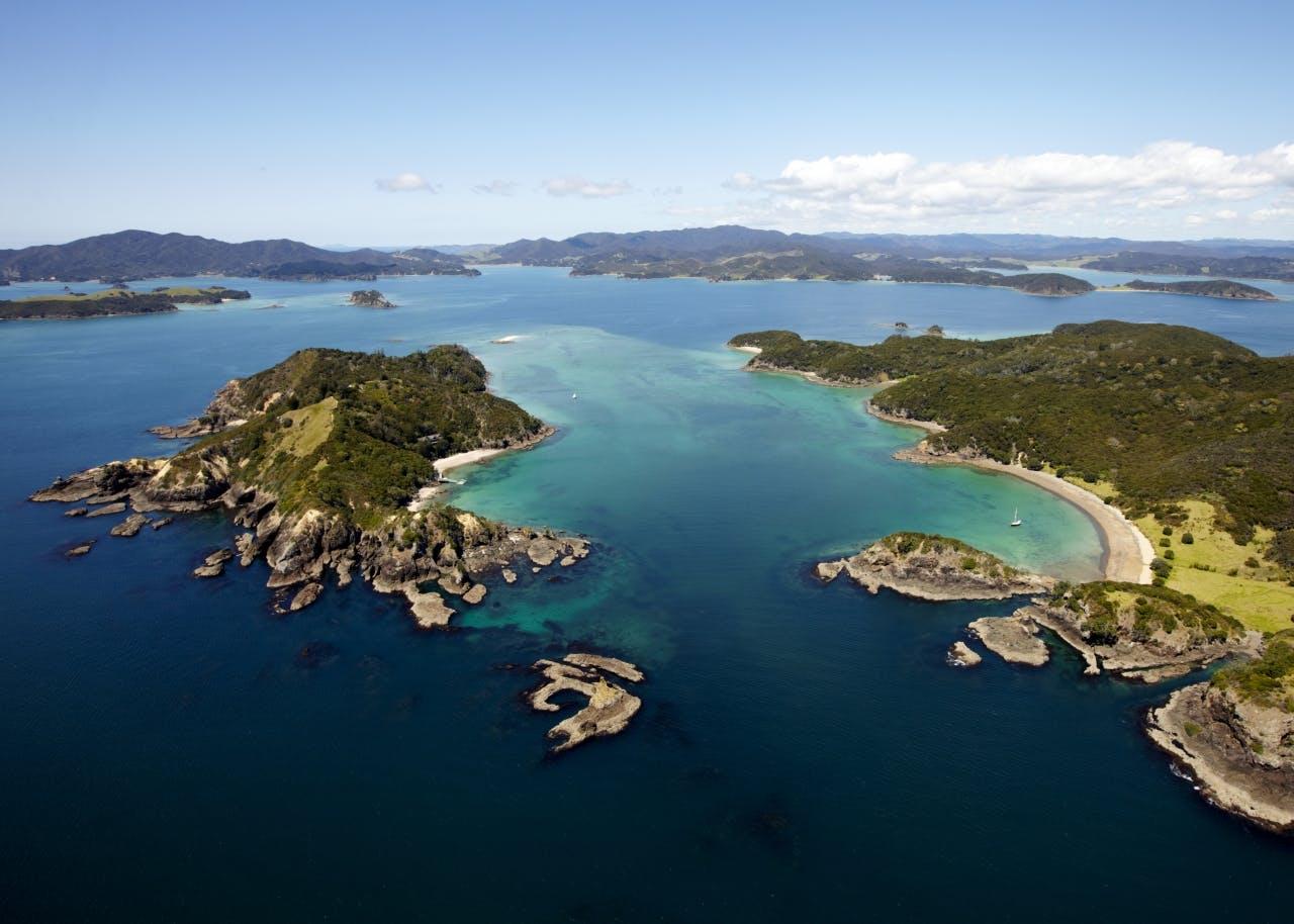 Moturua Island and Motukiekie Island