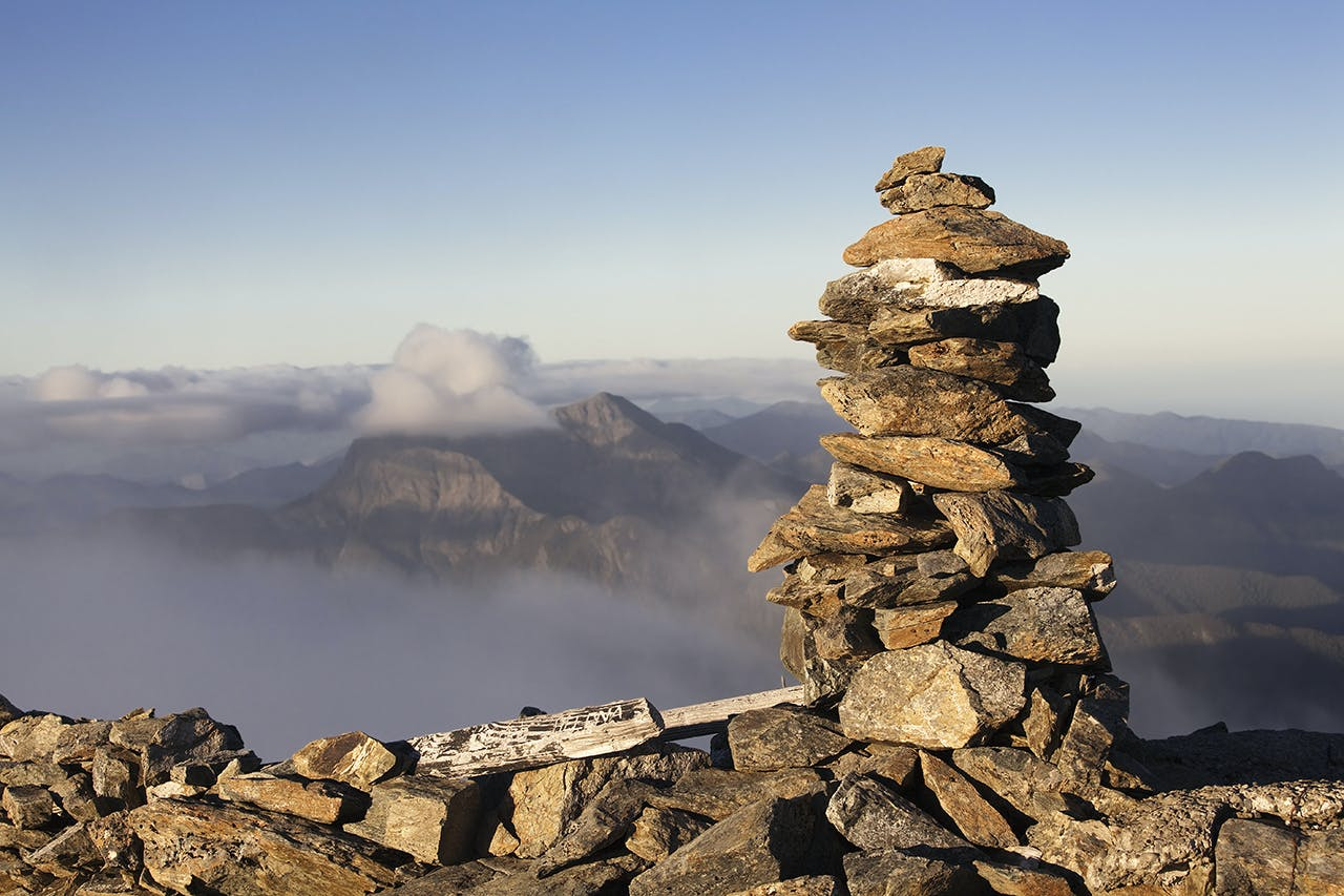 Mt Richmond's summit cairn. Photo: Ray Salisbury