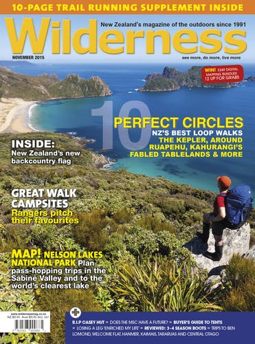Image of the November 2015 Wilderness Magazine Cover