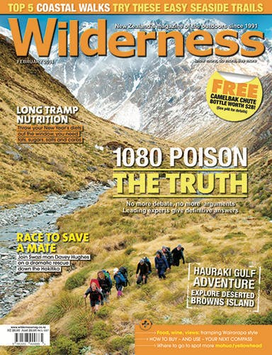 Image of the February 2014 Wilderness Magazine Cover