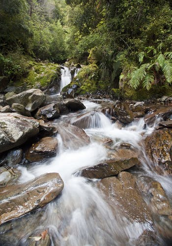 A beautiful cascade bounces down off the Glasgow tops