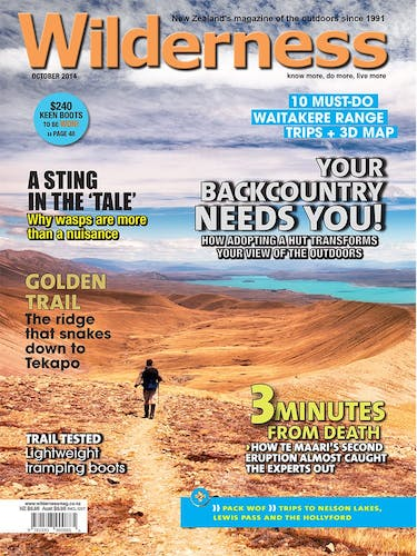 Image of the October 2014 Wilderness Magazine Cover